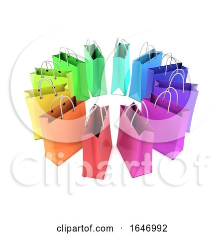 3d Rainbow Shopping Bags by Steve Young