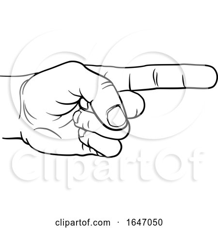 Hand Pointing Direction Finger Engraving Woodcut by AtStockIllustration