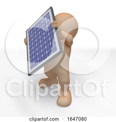 3D Morph Man with Solar Panel by KJ Pargeter