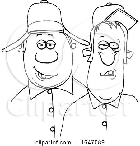 Cartoon Black and White Redneck Hillbilly Men Posters, Art Prints