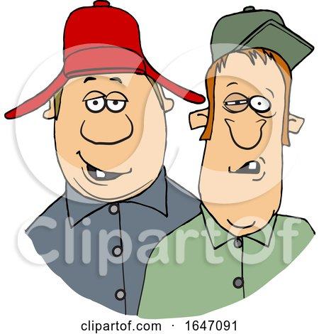 Cartoon Redneck Hillbilly Men by djart