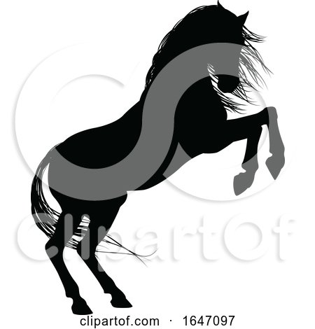 Horse Animal Silhouette by AtStockIllustration