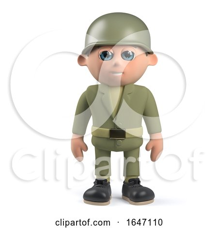3d Army Soldier Standing to Attention by Steve Young