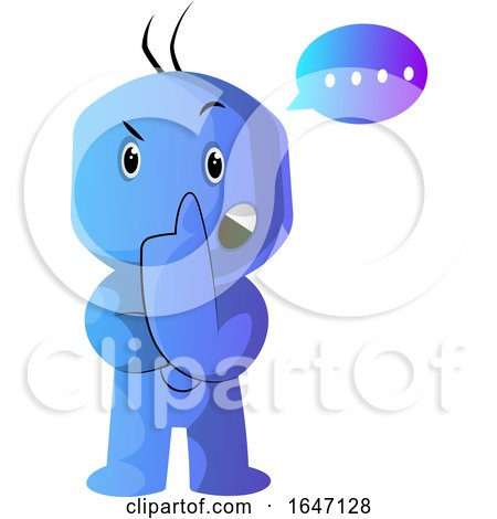 Confused Thinking Blue Cartoon Man by Morphart Creations