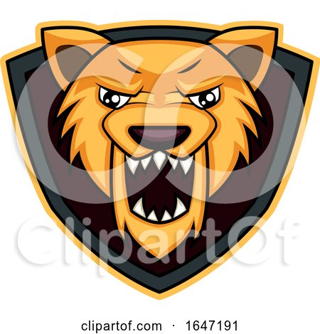 Roaring Wolf Mascot Shield Logo by Morphart Creations