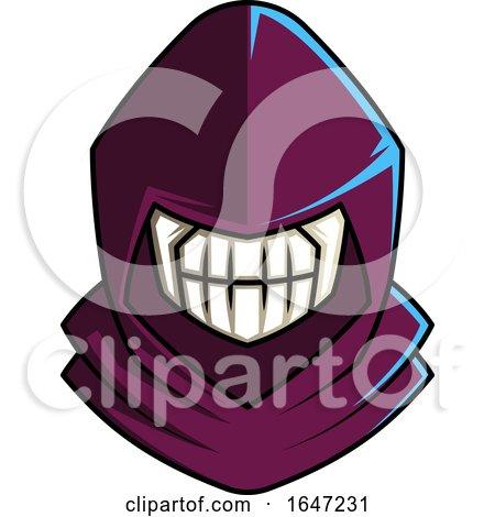 Skull Wearing a Purple Hood Posters, Art Prints