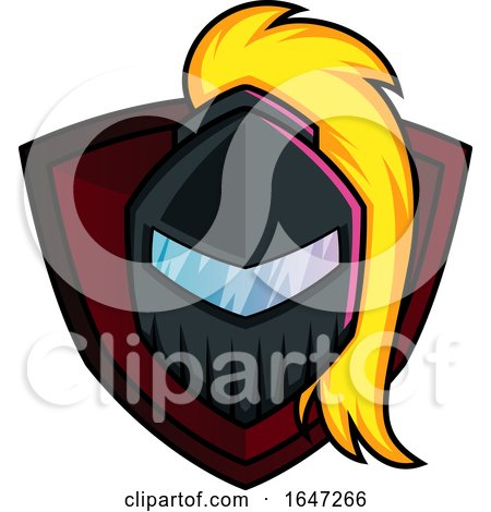 Knight or Warrior Helmet over a Shield by Morphart Creations