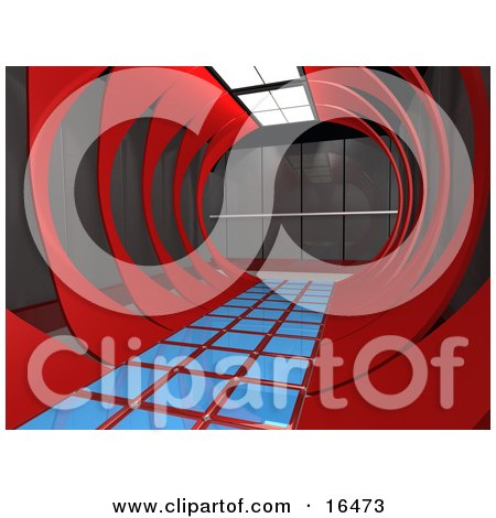 Modern Hallway In An Office Interior Clipart Illustration Graphic by 3poD