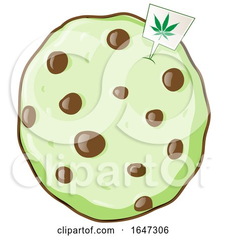 Cartoon Cannabis Cookie Posters, Art Prints