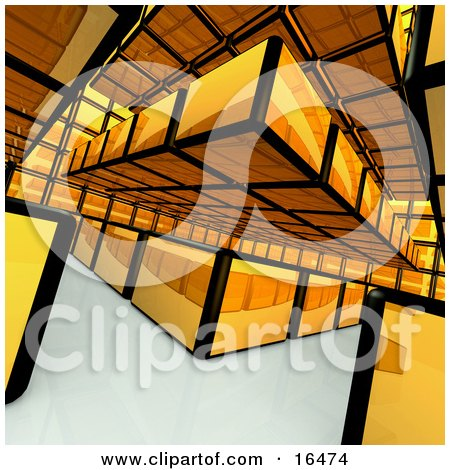 Abstract Yellow Box Background Design Clipart Illustration Graphic by 3poD