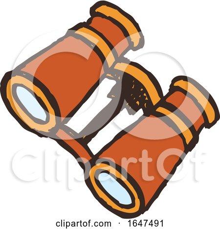 Orange Binoculars by Cherie Reve