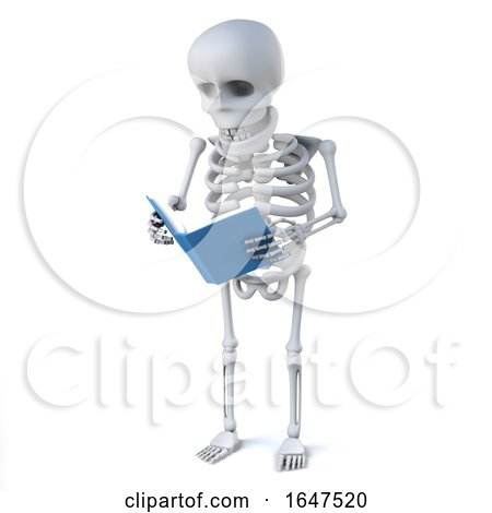 3d Skeleton Reads a Book by Steve Young