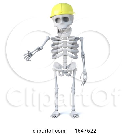 3d Skeleton Wearing a Hard Hat by Steve Young