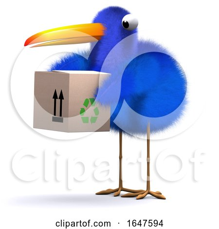 3d Blue Bird Delivery by Steve Young