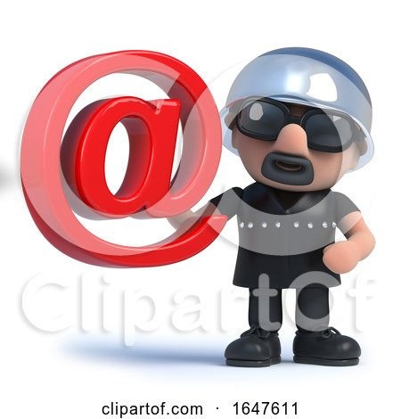 3d Biker Has an Email Address by Steve Young