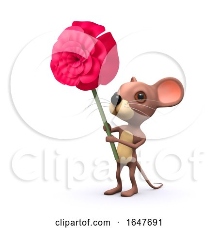 3d Romantic Mouse by Steve Young