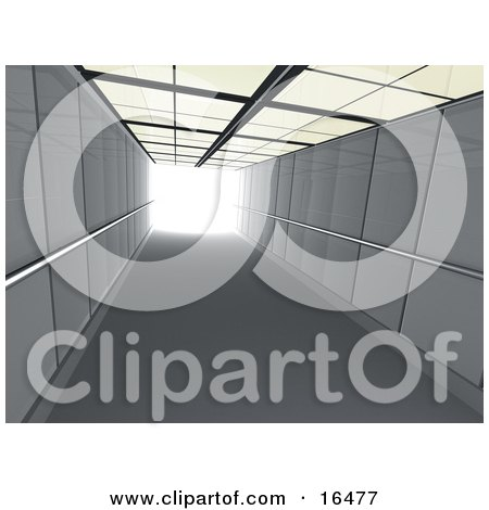 Corridor Or Elevator Shaft With Bright Light At The End Clipart Illustration Graphic by 3poD