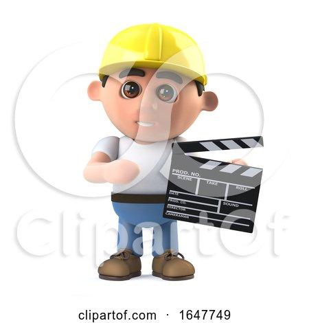 3d Construction Worker Makes a Movie by Steve Young