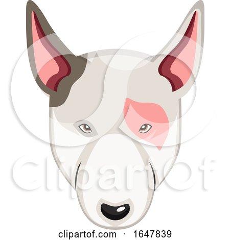 Bull Terrier Dog Face by Morphart Creations
