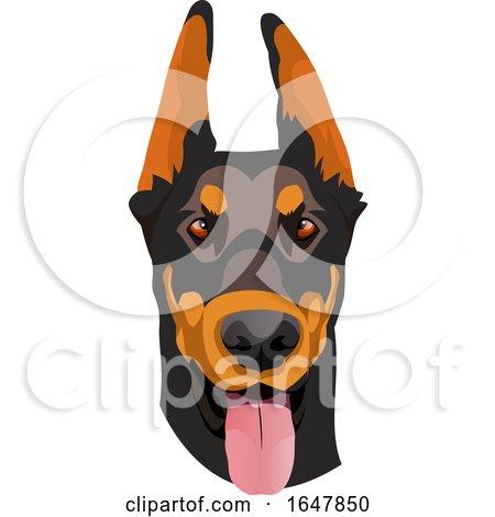 Doberman Pinscher Dog Face by Morphart Creations