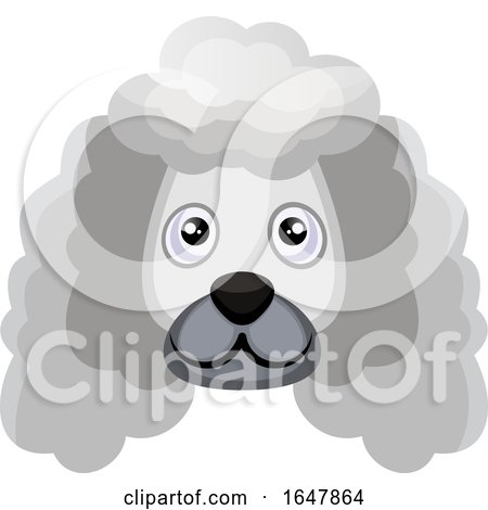White Poodle Dog Face by Morphart Creations