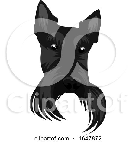 Black Scotish Terrier Dog Face by Morphart Creations
