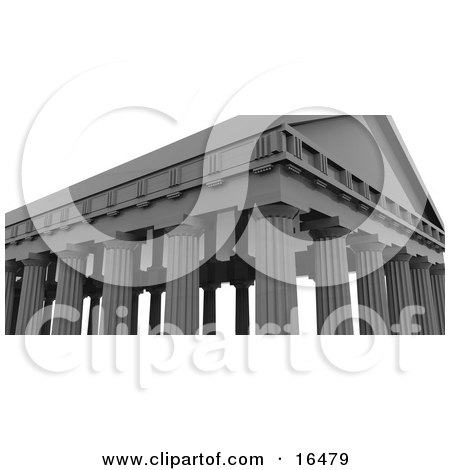 Ancient Building With Roman Columns Clipart Illustration Graphic by 3poD
