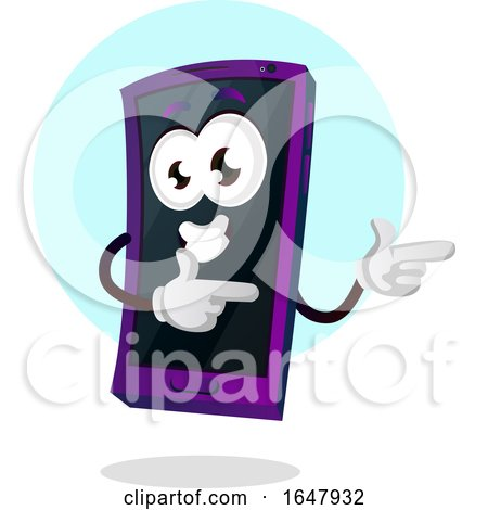 Cell Phone Mascot Character Pointing or Dancing by Morphart Creations