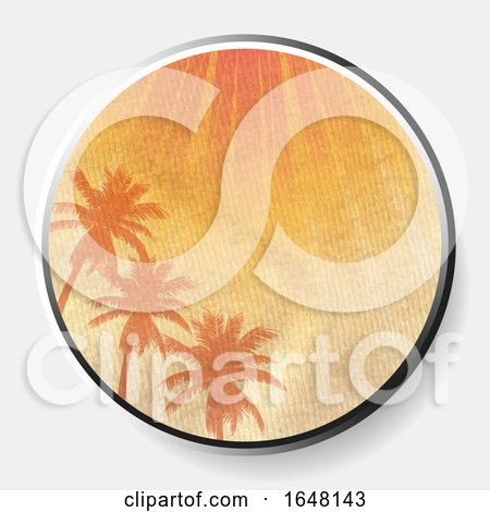 3D Abstract Summer Print on Crumbled Material Border by elaineitalia