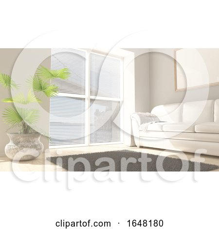3D Contemporary Living Room Interior and Modern Furniture by KJ Pargeter