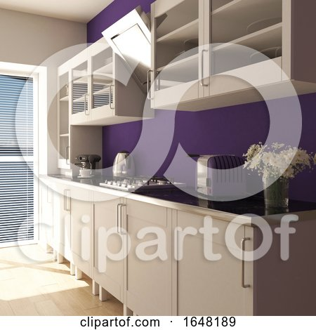 Render of 3D Contemporary Kitchen by KJ Pargeter
