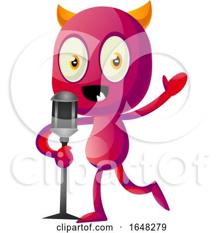 Devil Mascot Character Speaking by Morphart Creations