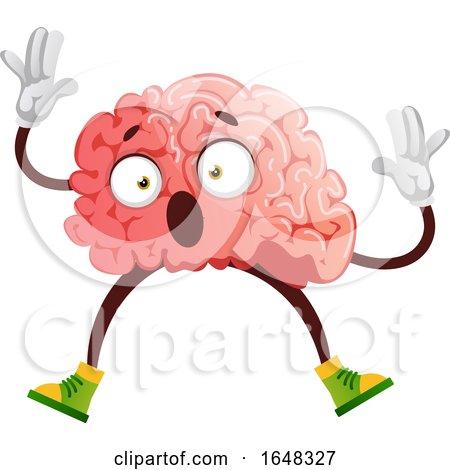 Stunned Brain Character Mascot by Morphart Creations