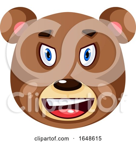 Bear Is Feeling Irritated, Illustration, Vector on White Background. by Morphart Creations