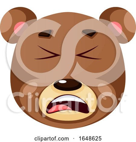 Bear Is Feeling Annoyed, Illustration, Vector on White Background. by Morphart Creations