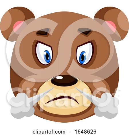 Bear Is Feeling Frustrated, Illustration, Vector on White Background. by Morphart Creations
