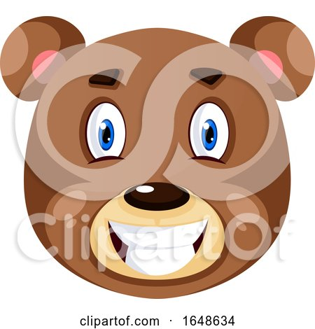 Bear Is Feeling Satisfied, Illustration, Vector on White Background. by Morphart Creations
