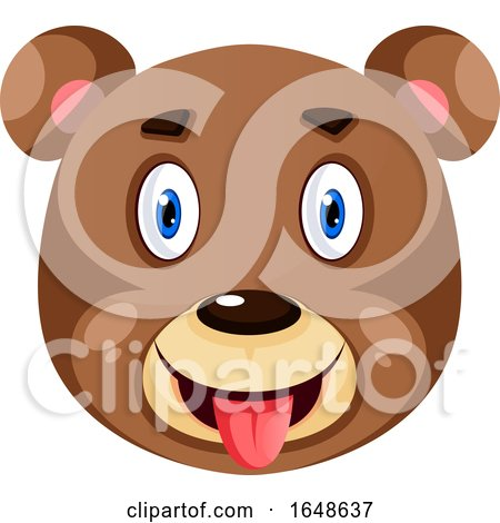 Bear Is Feeling Amazed, Illustration, Vector on White Background. by Morphart Creations