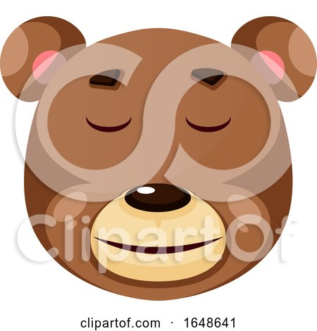 Bear Is Feeling Calm, Illustration, Vector on White Background. by Morphart Creations