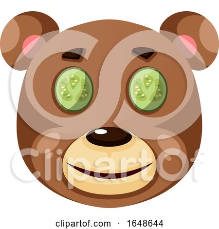 Bear Is Feeling Relaxed, Illustration, Vector on White Background. by Morphart Creations