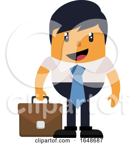 Man with Briefcase by Morphart Creations