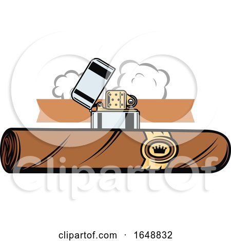 Cigar and Lighter by Vector Tradition SM