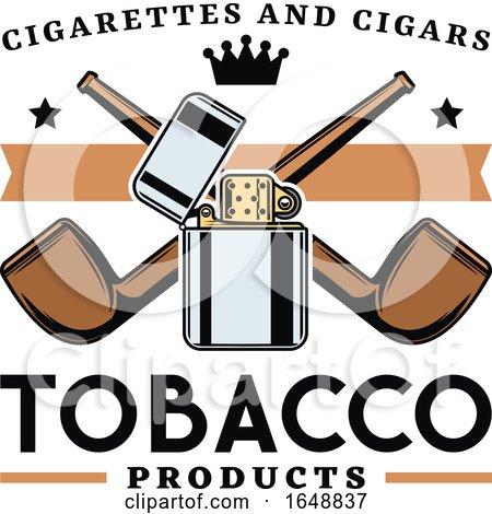 Tobacco Pipe Design by Vector Tradition SM