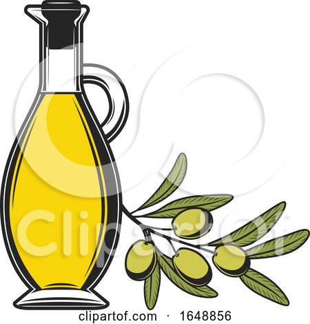 Green Olive and Oil Design by Vector Tradition SM