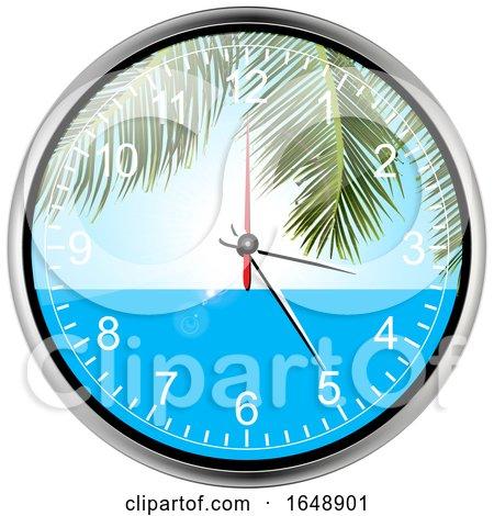 Paradise Wall Clock by elaineitalia