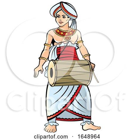 Traditional Sri Lankan Drummer by Lal Perera