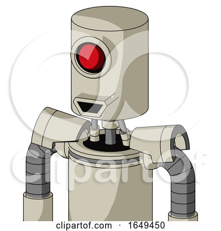 Tan Mech with Cylinder Head and Happy Mouth and Cyclops Eye by Leo Blanchette