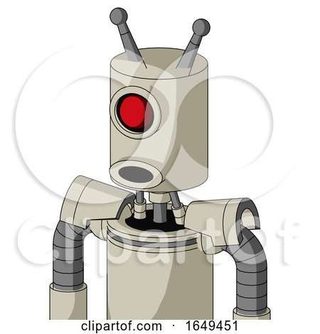 Tan Mech with Cylinder Head and Round Mouth and Cyclops Eye and Double Antenna by Leo Blanchette