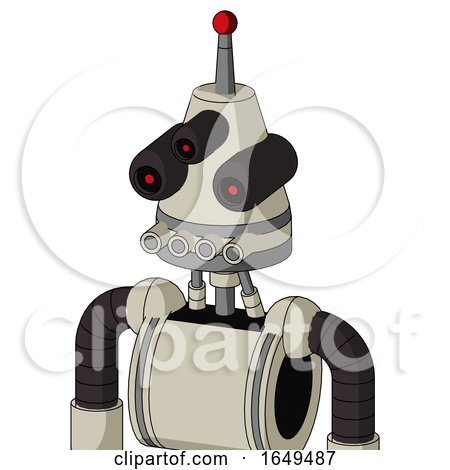 Tan Mech with Cone Head and Pipes Mouth and Three-Eyed and Single Led Antenna by Leo Blanchette