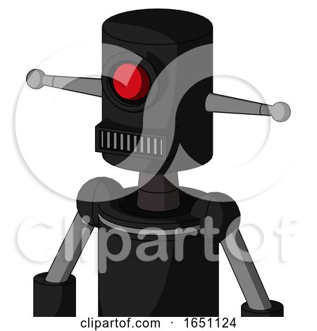 Black Automaton with Cylinder Head and Square Mouth and Cyclops Eye by Leo Blanchette